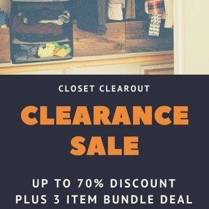 Other - Clearance on all closet! Up to 70% off